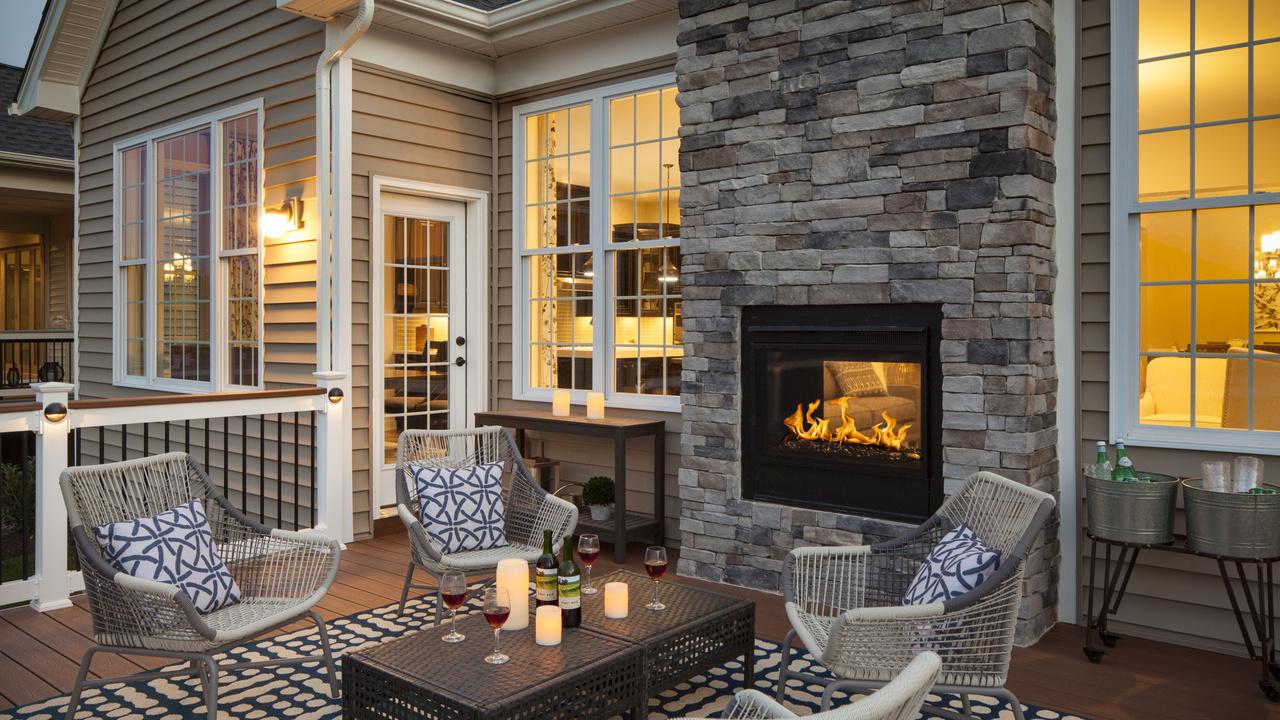 Heat & Glo - TWILIGHT MODERN -Indoor-Outdoor See-Thru