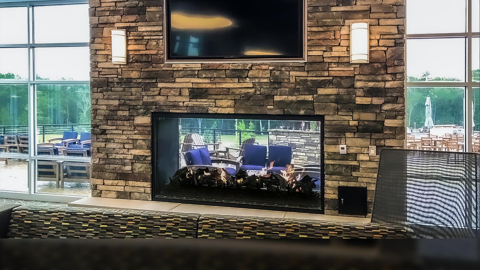 Stellar Hearth CUSTOM Indoor Outdoor See-thru 8'W x 4'H